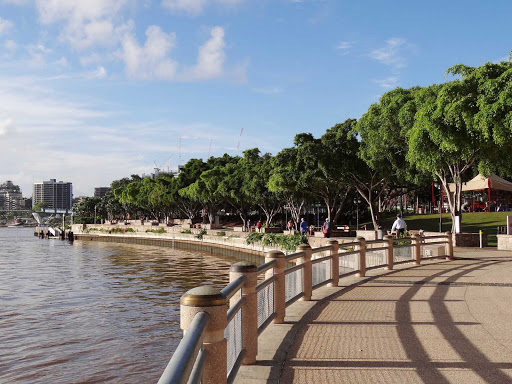 Australia-Brisbane-Parklands - Take a tranquil stroll in the South Bank Parklands of Brisbane, Australia.