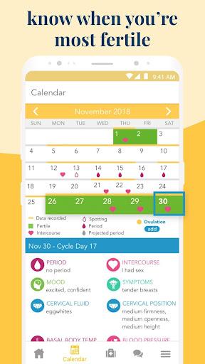 Ovia Fertility: Ovulation & Cycle Tracker 2.5.4 screenshots 2