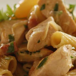One Pot Cheese & Bacon Chicken Tortiglioni.