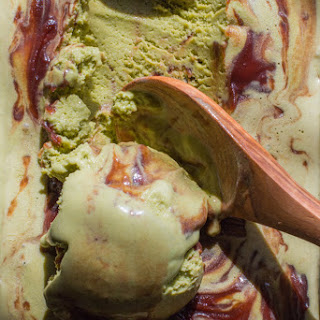 Matcha Green Tea Ice Cream with Sweet Red Bean