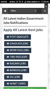 Indian Govt Jobs Notifications - náhled