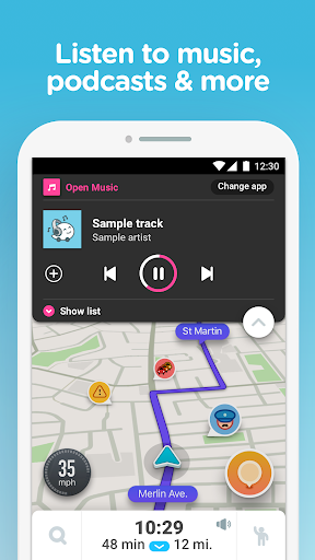 Screenshot for Waze - GPS, Maps, Traffic Alerts & Live Navigation in United States Play Store