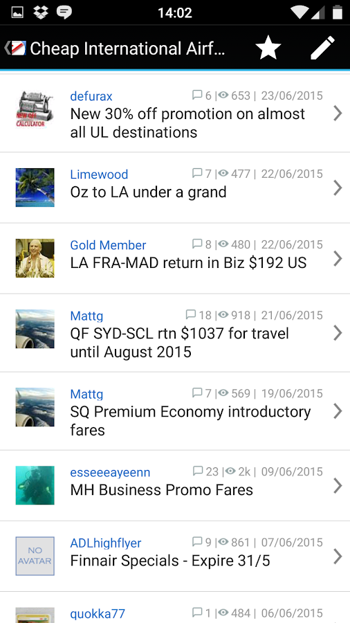 Aust Freq Flyer for Android- screenshot