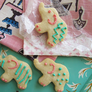 Shortbread Sugar Cookies {makes about 2 dozen cookies}