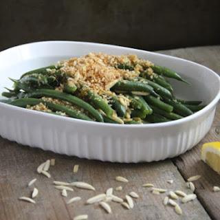 Green Beans with Lemon Breadcrumbs & Almonds