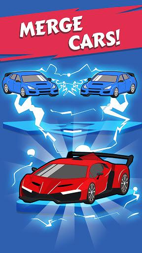 Télécharger gratuit Merge Car game free idle tycoon APK MOD 2