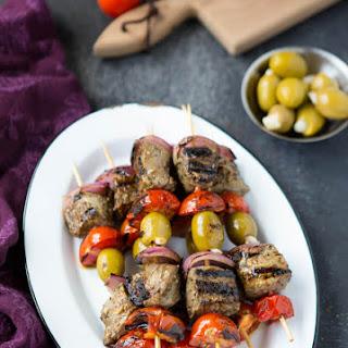 Greek Souvlaki Beef Kabobs.