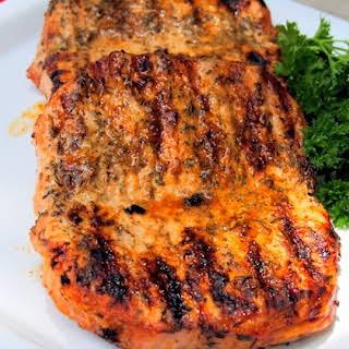 Grilled Herb Pork Chops.