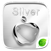 Silver GO Keyboard Theme