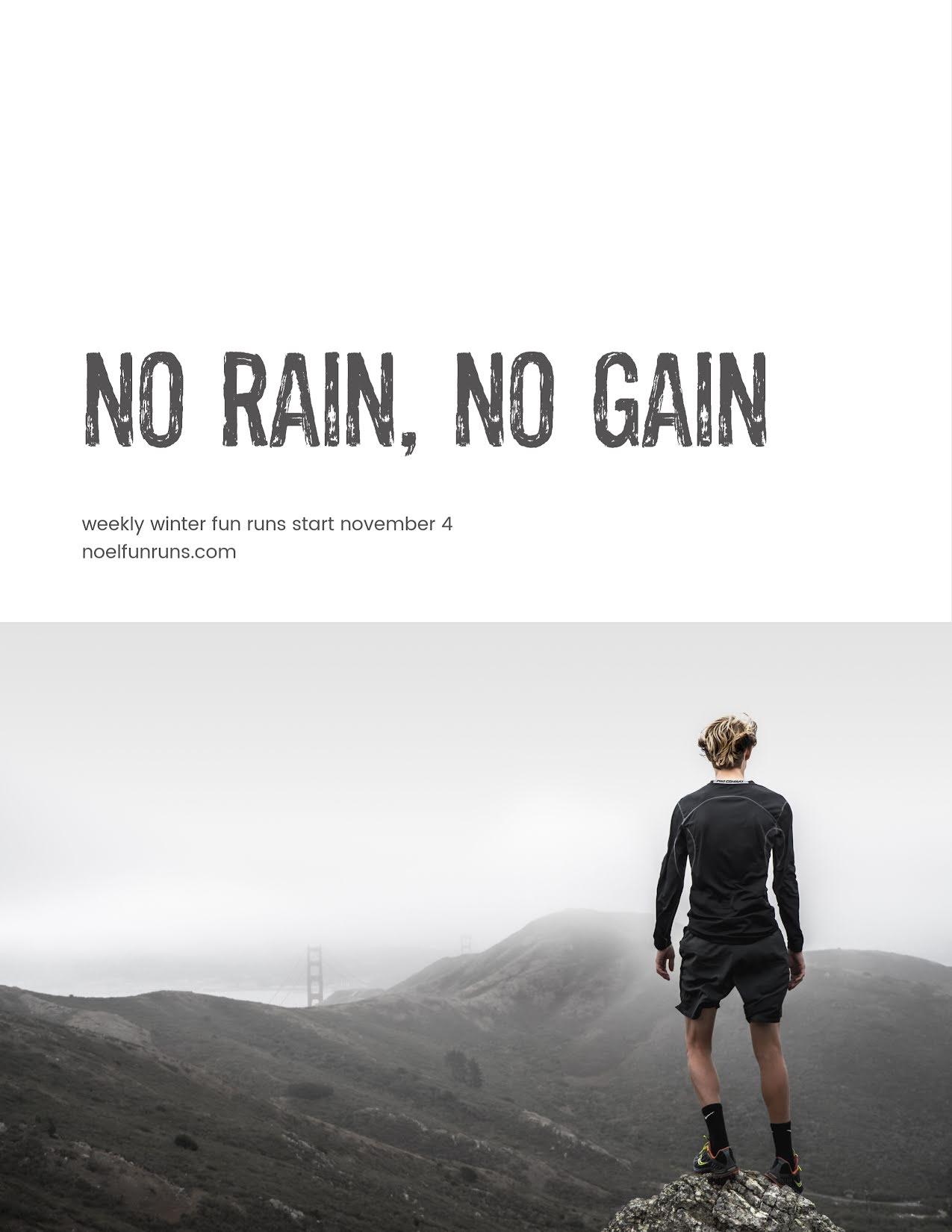 No Rain No Gain - Christmas Template
