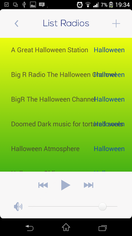 halloween music radio screenshot - List Of Halloween Music