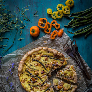 Chicken With Asparagus And Sweet Peppers Puff Tarts (9-inch Tart)