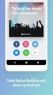 Musixmatch Songtexte Screenshot