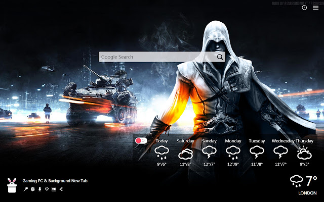 Gaming PC & Background New Tab, Wallpapers HD