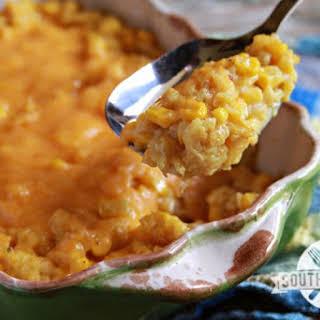 Cheesy Corn and Rice Casserole.