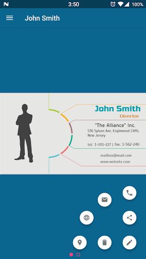 Business Card Holder 7.65 screenshots 2