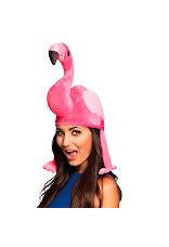 flamingohatt på huvud