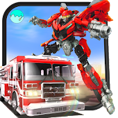 Robot Firefighter Rescue Fire Truck Simulator 2018