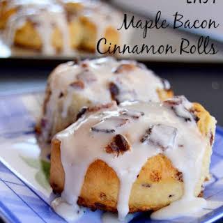 Semi-Homemade Maple Bacon Cinnamon Rolls.