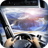 Driving in Russian Kamaz 3D