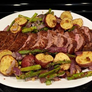 Garam Masala Pork Tenderloin Sheet Pan Supper.