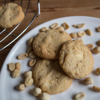 Peanut Butter, Hazelnut And White Chocolate Cookies