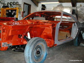 Photo: 70 challenger with new suspension waiting to get the panels installed