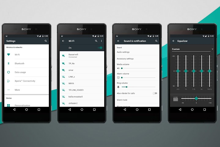 android Material Stock Teal Theme Screenshot 1