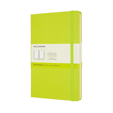 Classic Hard Cover Large Plain Lemon Green