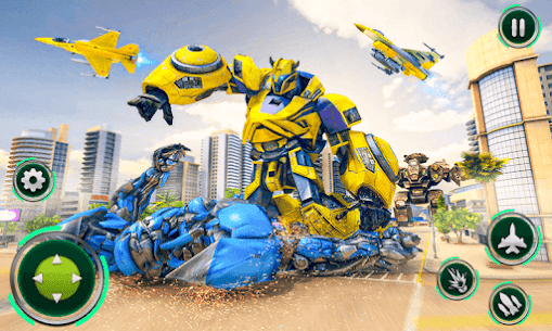 Air Jet Robot Transform : Robot Shooting Game 4