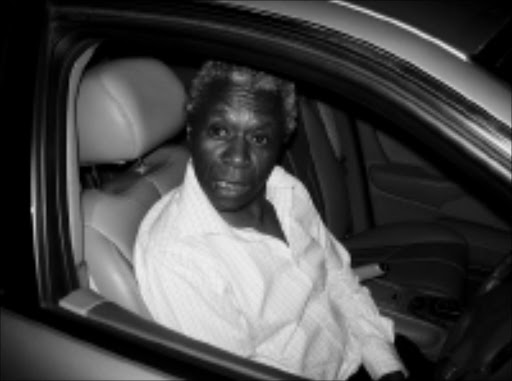 FLASHBACK: Drunk driving accused Judge Nkola Motata in the car that hit a wall in Hurlingham. © Sowetan.