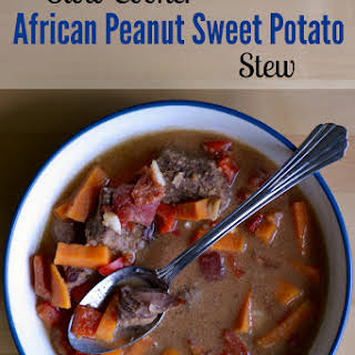 Slowcooker African Peanut, Beef and Sweet Potato Stew.