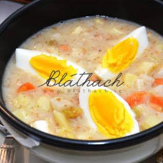 Polish Sour Ryemeal Soup – Żurek.