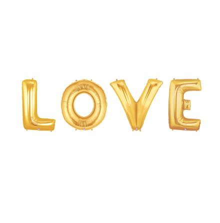 Folieballonger - LOVE, guld