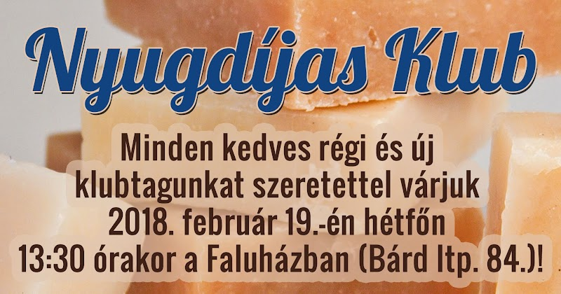 2018 februári Nyugdíjas Klub