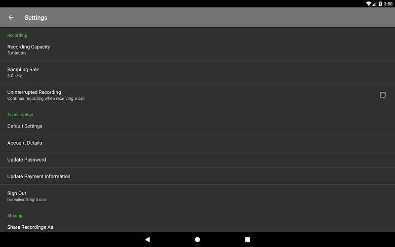 Dictadroid Voice Recorder Screenshot 10