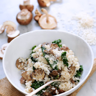 Kale & Mushroom Risotto with Italian Sausage