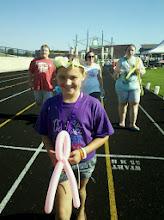 Photo: Balloon ribbon fun at Relay for Life event :)