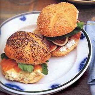Tarragon-Caper Egg Salad Sandwiches with Smoked Salmon recipe | Epicurious.com.