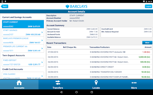 Barclays Zambia- screenshot thumbnail