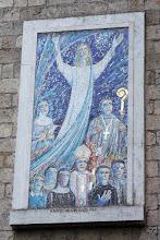 Photo: 008 Santa Scolastican porttikäytävän uusi mosaiikki