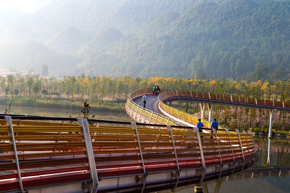 Yanweizhou, o parque ecológico da China