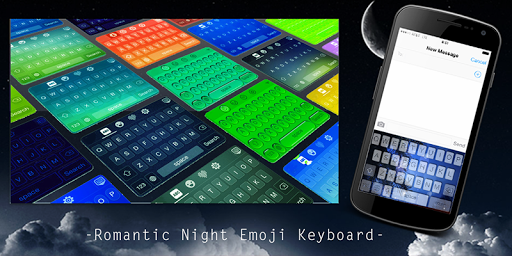 Romantic Night Emoji Keyboard