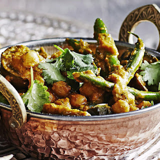 Eggplant, Chickpea and Green Bean Curry Recipe