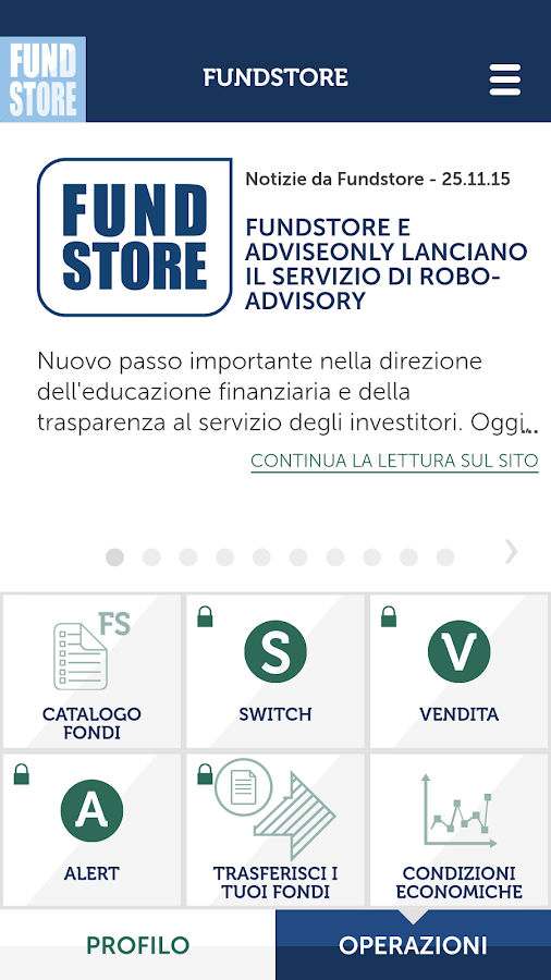 Fundstore- screenshot