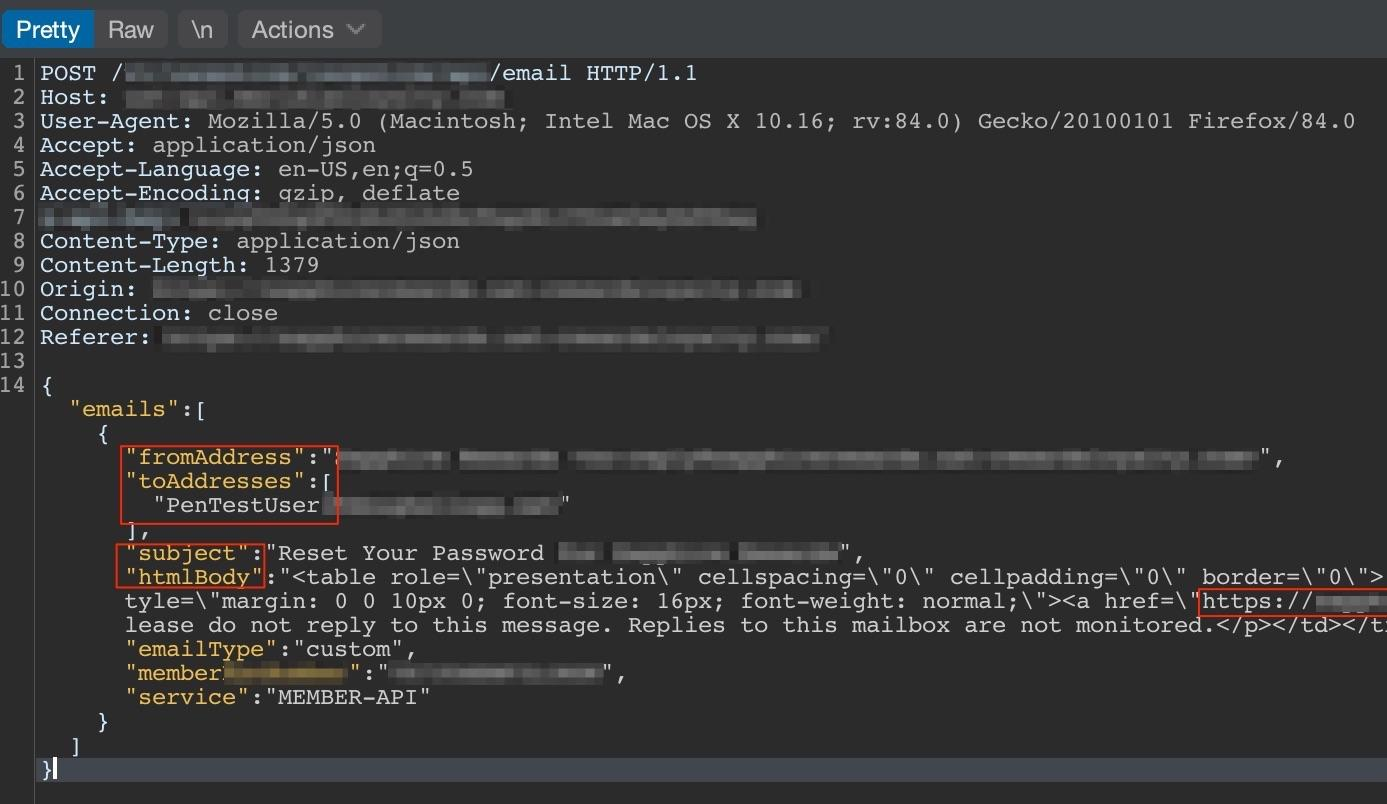 Up close screenshot of four parameters malicious attackers could use to manipulate and use.