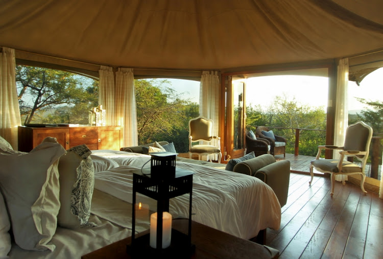 Thanda Tented Camp tent interior.