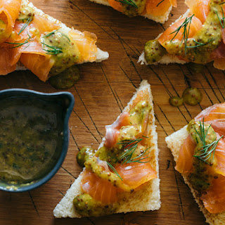 DIY Gravlax with a Whole Grain Mustard Sauce