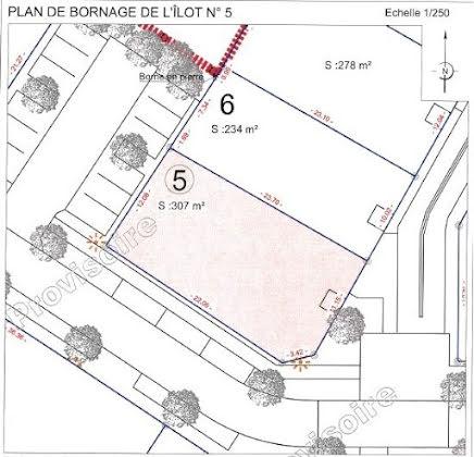 Vente terrain à bâtir 307 m2