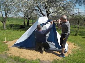Photo: postavit vysílací stan